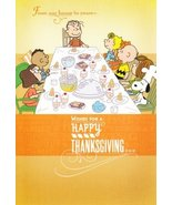 "Charlie Brown and Friends Peanuts Thanksgiving Card ""From Our House ..."" - $2.99"