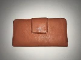Fossil Orange Bifold Checkbook Wallet - $28.00