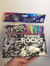 Equestria Rainbow Rocks Velvet Markers Coloring Pouch Zipper My Little P... - $9.89
