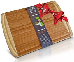 The Best ORGANIC Hardwood Bamboo EX Large Cutting & Kitchen Chopping Boa... - ₨3,685.99 INR