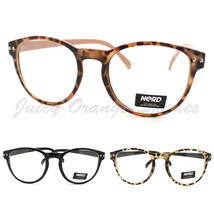 Round Keyhole Eyeglasses Frame Unisex Clear Lens Nerd Glasses (3 Colors) - $7.95
