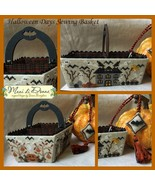 CLEARANCE Halloween Sewing Days Basket cross st... - $19.50