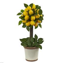 Lemon Ball Topiary Arrangement decorative pot home decor - $53.77