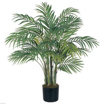 3 Ft Silk Artificial ARECA PALM Tree Tropical Fake Plant - $98.99