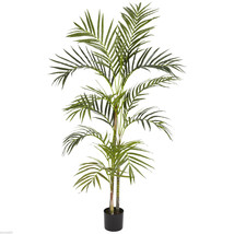 4' Areca Palm Silk Tree Nearly Natural new with pot - $72.66