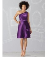 After Six 6617....Knee length, One shoulder Dress....African Violet....Sz 8 - $49.49