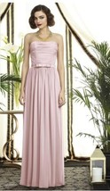 Dessy 2898.....Full length, Strapless, Chiffon Dress......Blush.....Sz 6 - €73,35 EUR