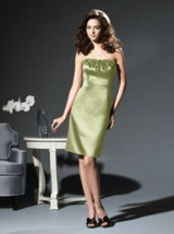 Dessy 2808*....Cocktail length, Strapless, Satin dress...Mint...Sz 8 - €12,93 EUR