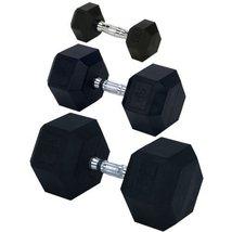 Champion Rubber Encased Solid Hex Dumbbell, 50-... - $97.24