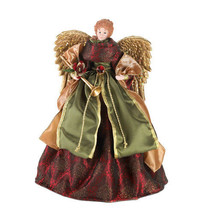 CHRISTMAS ANGEL DOLL TREE TOPPER Porcelain Home Indoor Decor Holiday Dec... - $59.99