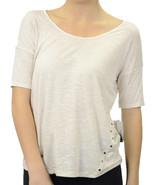 S Kensie Heather Birch Slub Jersey Cap Sleeve T... - $16.81