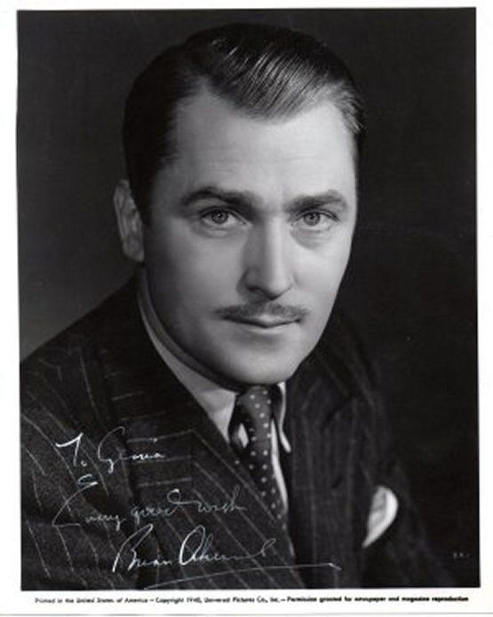 BRIAN AHERNE Vintage Autograph on 8x10 photograph, nicely signed.
