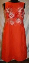 Pendleton Womens Dress 9 Orange Sleeveless Sun Floral Tank - $22.08