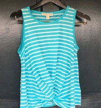 Michael Kors top stripe Turquoise Basics Size Xl - $39.59