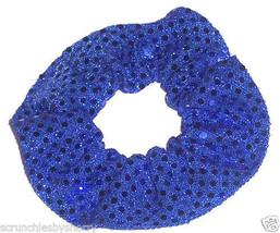 Royal Blue Sequin Dots Hair Scrunchie Scrunchies by Sherry Confetti Dot - $6.99