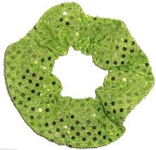 Lime Green Dots Hair Scrunchie Scrunchies by Sherry Confetti Dot - $6.99