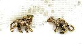 Joan Rivers Noah's Ark Cheetahs Pair Couple Set Charms Extend Chain Crys... - $60.00