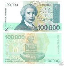 CROATIA 100,000 DINAR AWESOME NOTE GEM UNC~~FREE SHIP~~ - $2.41