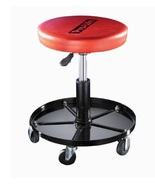 Mechanics Seat Brake Stool Rolling Padded Adjustable Handyman Chair Tool... - $40.49