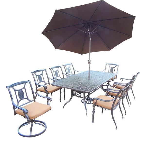dining set with umbrella outdoor metal patio set garden furniture sets