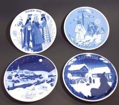 Lot 4 Porsgrund Norway Christmas Collector Plat... - $29.65