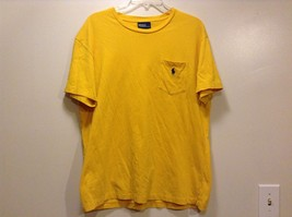 Great Condition Polo by Ralph Lauren Medium 100% Cotton Yellow Pocket Chest