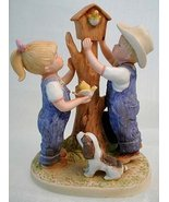 Homco Collectible DENIM DAYS Our Birdhouse Figurine - $71.99