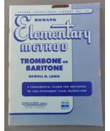 Rubank Elementary Method for Trombone / Baritone (BC) - Long - $8.50