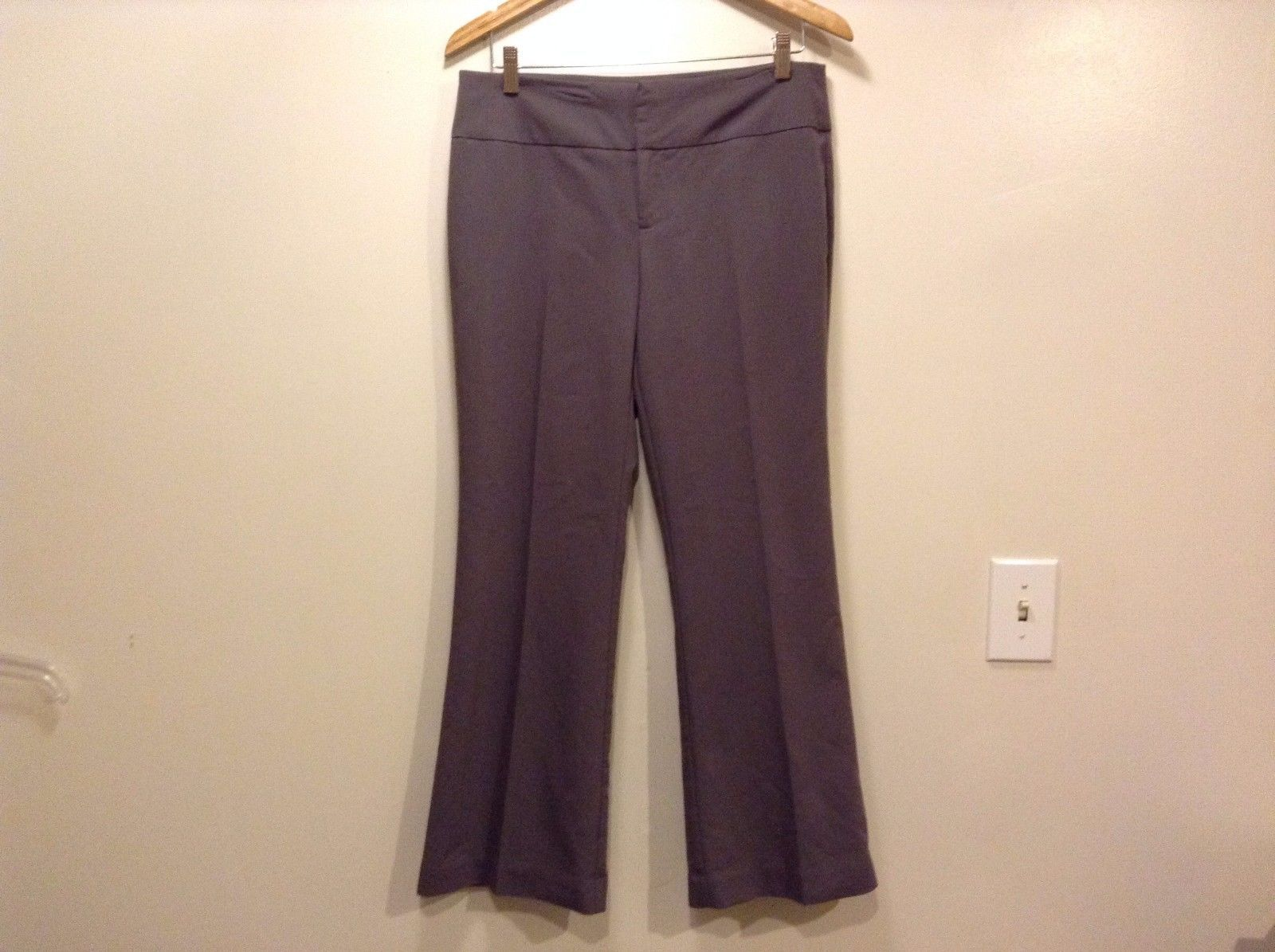Great Condition International Concepts Petite Size 10 Polyester Charcoal Pants