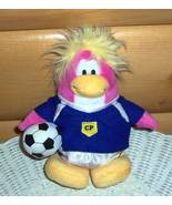 """Disney Club Penguin 7"""" Plush Pink Soccer Girl in CP Uniform with Ball - $8.49"""