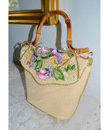 NWT $450 ERIC JAVITS Floral Embellished Straw P... - $180.22