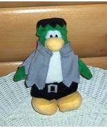 """Disney Club Penguin 7"""" Plush Green Frankenstein FrankenPenguin Halloween... - $8.49"""