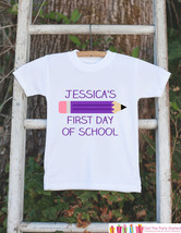 First Day of School Outfit - Personalized 1st Day of School Shirt - Girls Back t - $18.00