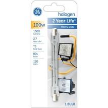 GE 100 Watt Double Ended Quartz Halogen T3 bulb, 1 Pack - $7.27