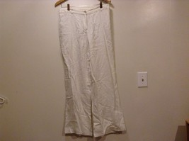Great Condition Raxeusky 100% Linen Button Zipper White Sparkled Pants - $34.64