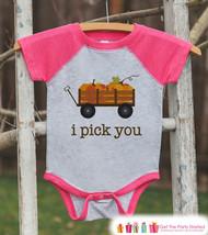 Pumpkin Patch Shirt - I Pick You Kids Fall Shirt - Baby Girl Fall Shirt - Pink R - $21.00