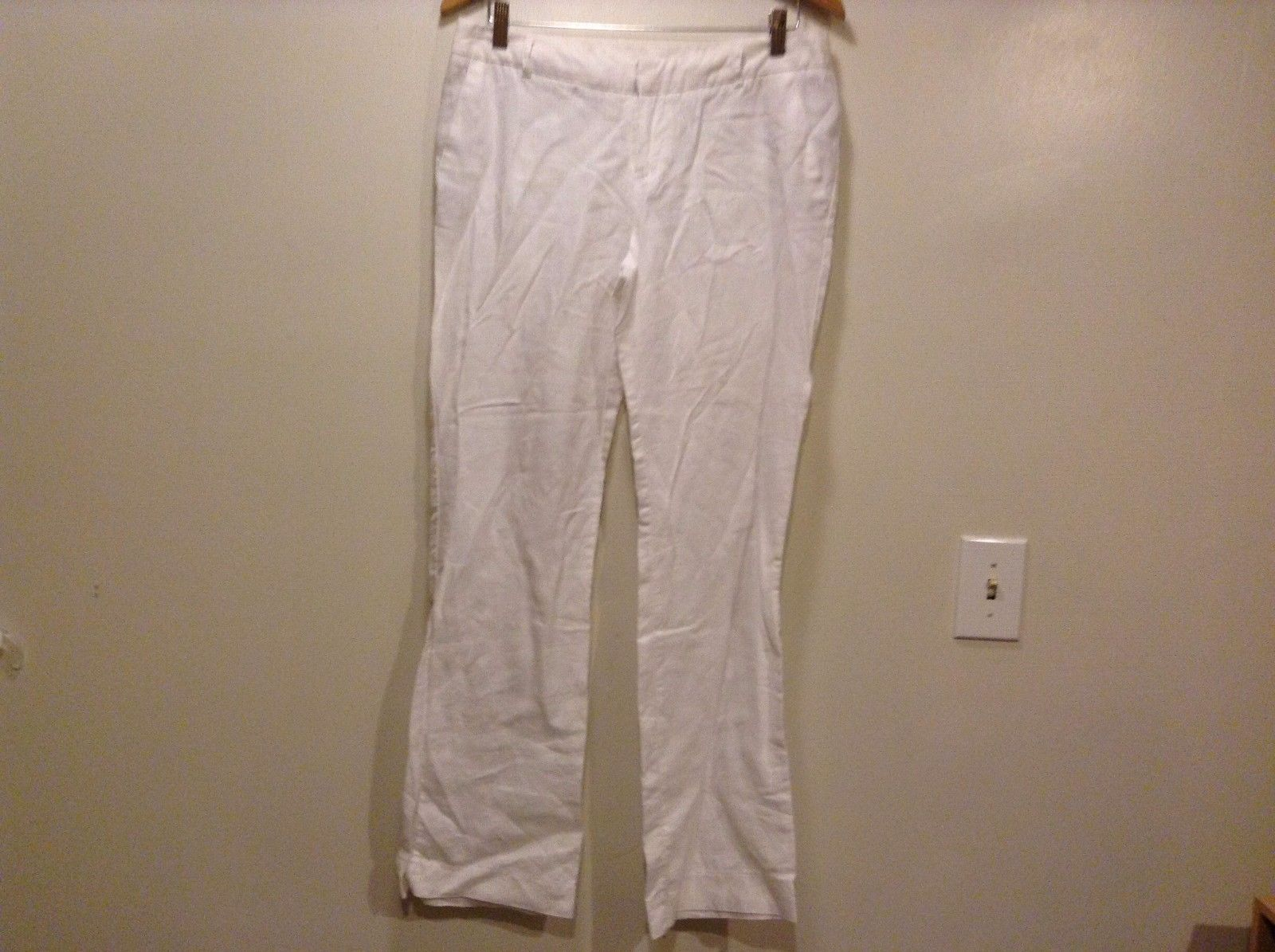 Great Condition White Pants Zipper Button Clip