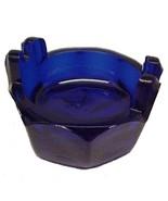 Cobalt Blue Art Glass Wash Tub Open Salt Dip Ce... - $9.95