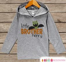 Little Brother Shirt - Halloween Bat Little Brother Hoodie - Boys Pullover Top - - $22.50