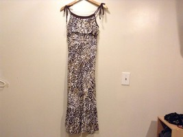 Great Condition Justice Animal Print Size 16 100% Cotton Gold Ting Sequin Dress image 1