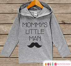 Kids Mother's Day Outfit - Kids Hoodie - Mommy's Little Man - Mustache Children' - $22.50