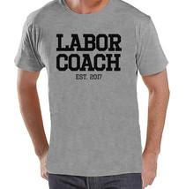 Pregnancy Announcement - Labor Coach Shirt - Mens Grey T Shirt - Pregnan... - $18.00