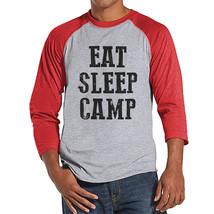Camping Shirt - Eat Sleep Camp Shirt - Men's Red Raglan T-shirt - Mens C... - $21.00