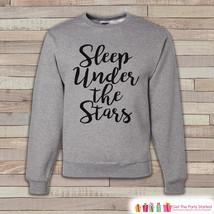 Camping Sweatshirt - Men's Crewneck Sweatshirt - Sleep Under The Stars Adult Gre - $29.95