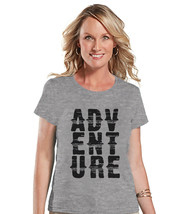 Camping Shirt - Adventure Shirt - Womens Grey T-shirt - Ladies Camping, ... - $18.00