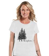 Camping Shirt - Explore Shirt - Womens White T-shirt - Ladies Camping, H... - $18.00