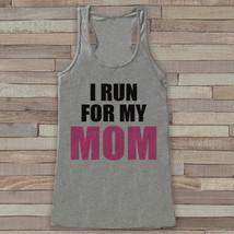 Women's I Run For Tank - Cancer Awareness Tank - Grey Tank Top - Grey Ra... - $19.00