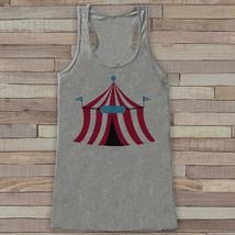Circus Tank - Ladies Carnival Top - Circus Tent Tank Top - Grey Tank Top... - $19.00