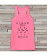 Mountains Are Calling - Hiking Shirt - Adventure Tank Top - Camping Tank... - £15.01 GBP