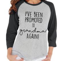 Pregnancy Announcement - Promoted to Grandma Again Shirt - Grey Raglan S... - $21.00